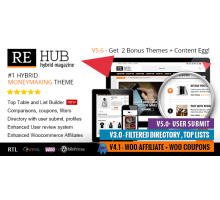 REHub 5.6.1 адаптивный шаблон wordpress