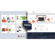 Dakota 1.0 адаптивный шаблон WordPress