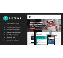 District 1.3.3 адаптивный шаблон wordpress