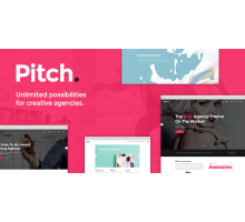 Pitch 1.3 адаптивный шаблон wordpress