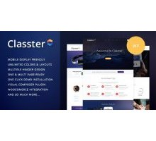 Classter 2.0 адаптивный шаблон wordpress
