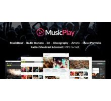 MusicPlay 4.4.0 адаптивный шаблон wordpress