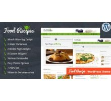 Food Recipes 2.4.2 адаптивный шаблон wordpress
