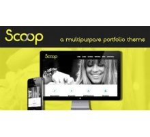 Scoop адаптивный шаблон тема wordpress