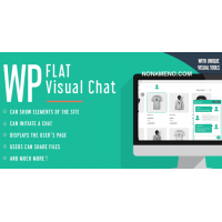 WP Flat Visual Chat плагин чат Wordpress