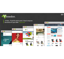 Venedor 2.3.9 шаблон WordPress + WooCommerce шаблон
