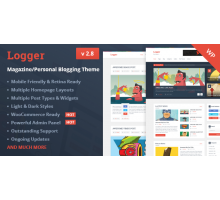 Logger 2.8  Magazine Blogging Theme шаблон